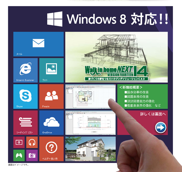 walk in home 新バージョン「14」windows8に正式対応!
